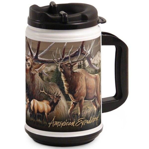 Elk Collage 24oz Thermal Mug by American Expedition