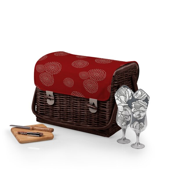 Kabrio Wine and Cheese Picnic Basket by Highland Dunes