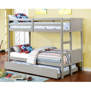 Santucci Full Over Full Bunk Bed With Drawers by Harriet Bee