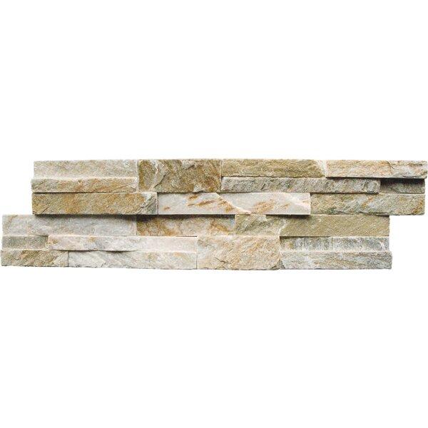6 x 24 Natural Stone Splitface Tile in Golden Honey by MSI