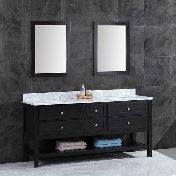 Elana 59 Double Bathroom Vanity Set with Mirror