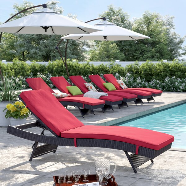 Brentwood Chaise Lounge with Cushion (Set of 6) by Sol 72 Outdoor