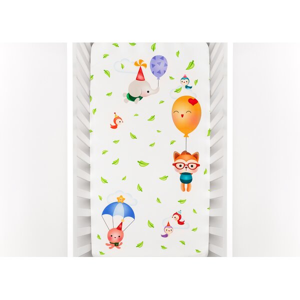 Silvia Portella Balloon Party Fitted Crib Sheet by Rookie Humans