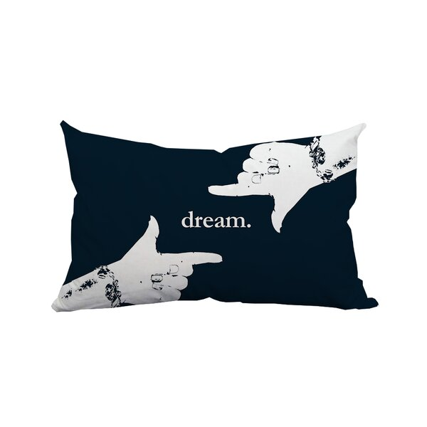 Dream Textual Lumbar Pillow by Positively Home