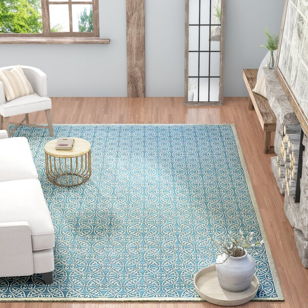 SeanPaul Hand Woven Blue Area Rug by Gracie Oaks