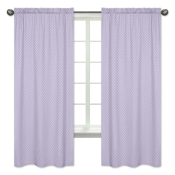 Sloane Polka Dot Semi-Opaque Rod Pocket Curtain Panels (Set of 2) by Sweet Jojo Designs