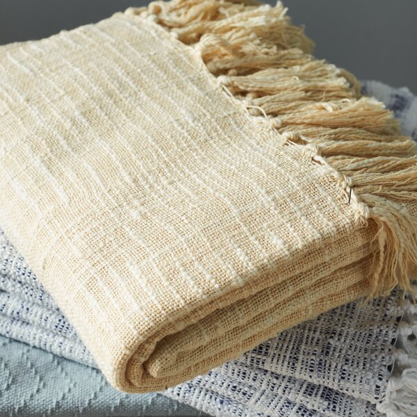 Carclunty Cotton Throw Blanket by Langley Street