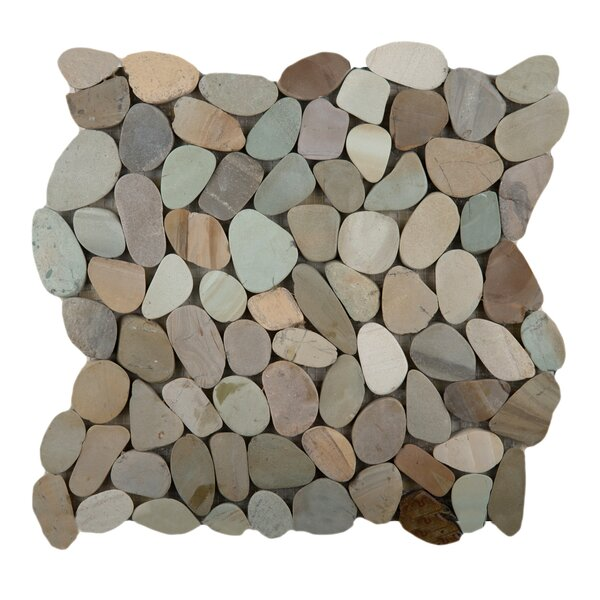 Flat Venetian Pebbles 12 x 12 Mosaic Tile in Pastel Blend by Emser Tile
