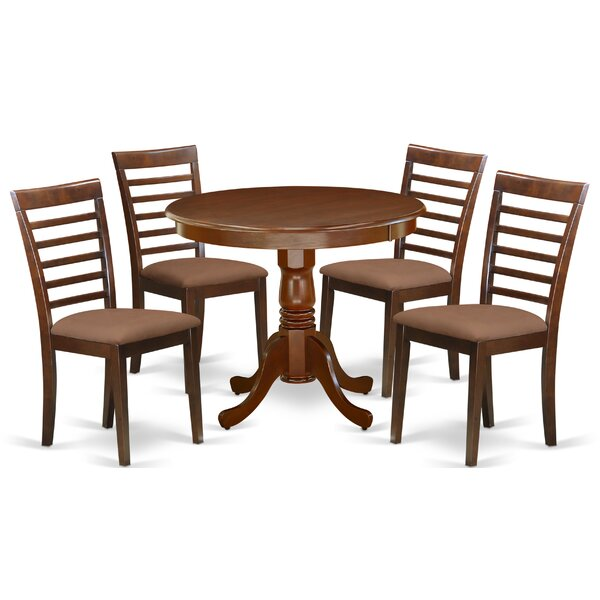 Schexnayder 5 Piece Solid Wood Dining Set By Charlton Home
