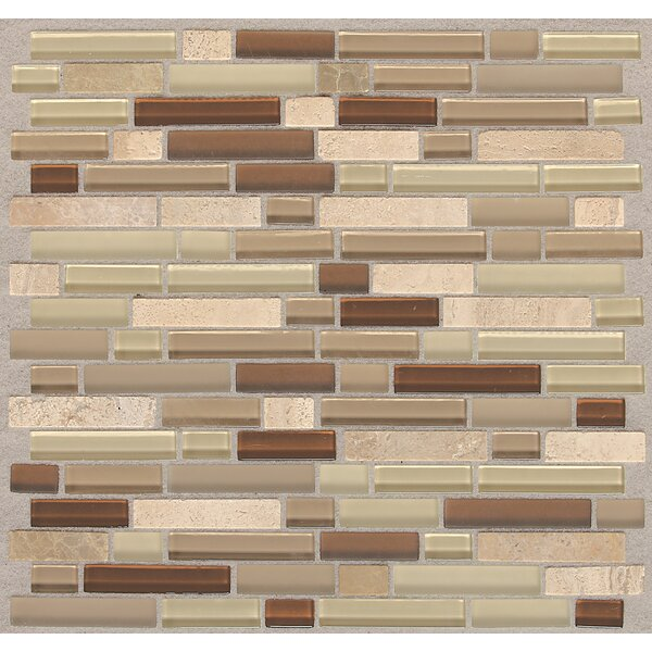 Treasure 12 x 13 Glass Gem Mosaic Tile in Pecan Taupe by Mohawk Flooring