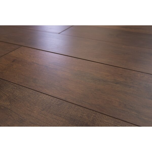 Torre 9 x 48 x 8mm Oak Laminate Flooring in Dark Brown by Branton Flooring Collection