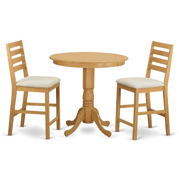 Jackson 3 Piece Counter Height Pub Table Set by Wooden Importers