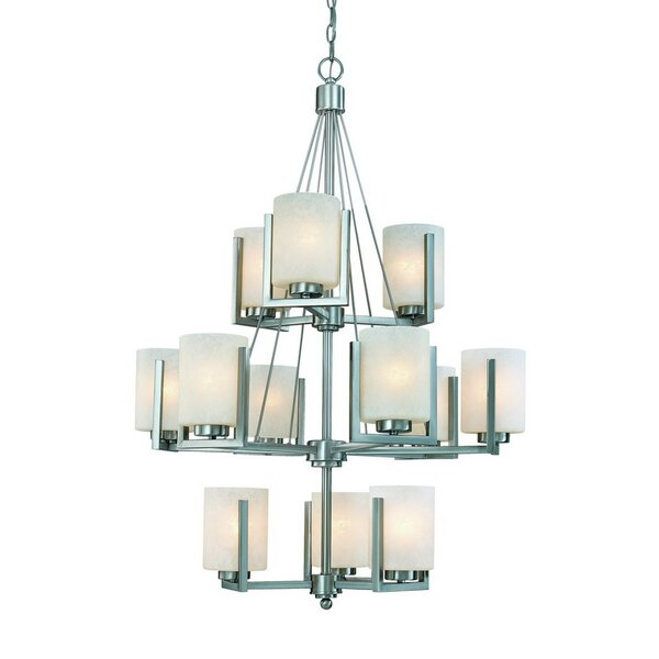 Anmol 12-Light Shaded Chandelier by Orren Ellis