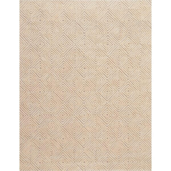 Chism Deco Hand-Tufted Taupe/Ivory Area Rug by George Oliver