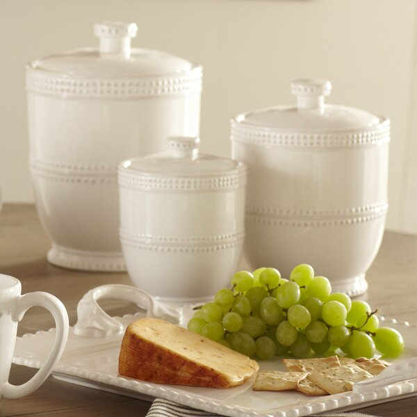 Milford 3 Piece Kitchen Canister Set by Birch Lane™