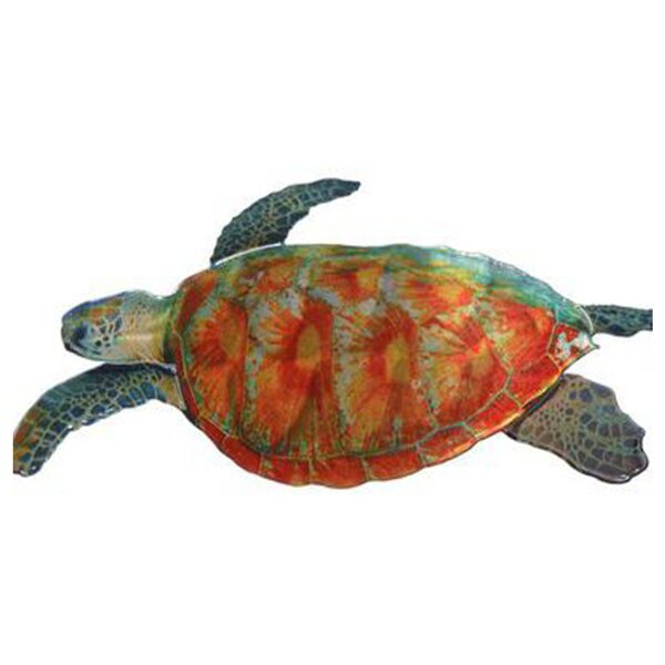 Sea Turtle Handmade Metal Wall Décor by Beachcrest Home