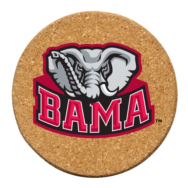 University of Alabama Cork Collegiate Coaster Set (Set of 6) by Thirstystone