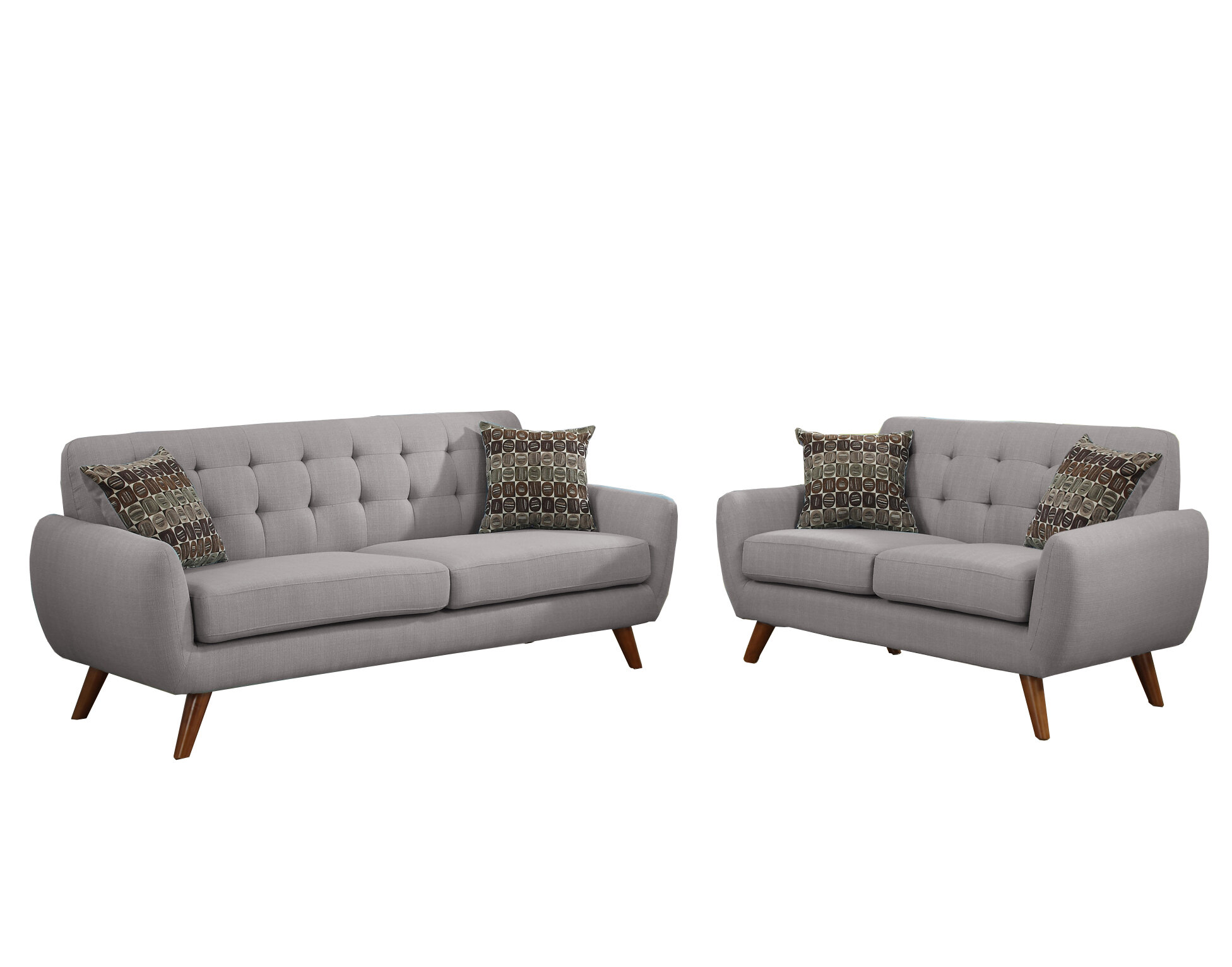 Langley Street Wooten 2 Piece Living Room Set & Reviews | Wayfair