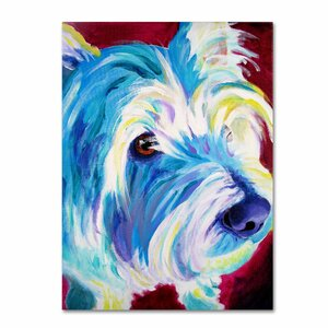 Westie by DawgArt Painting Print on Wrapped Canvas by Trademark Fine Art