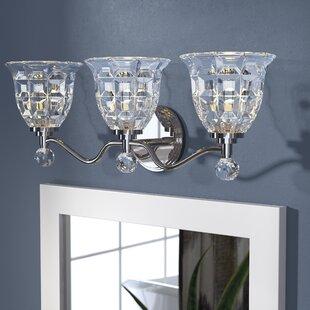 Crystal bathroom vanity lighting youll love wayfair eduard 3 light vanity light aloadofball Gallery