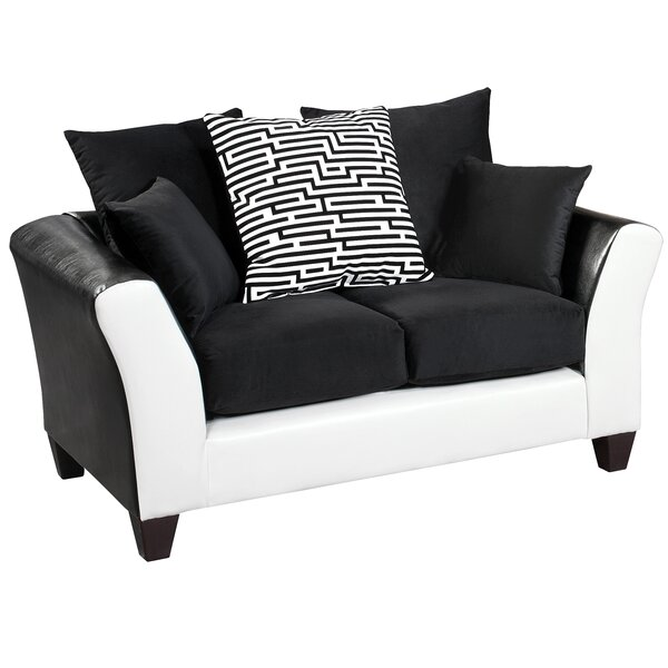 Cool Collection Dilorenzo Modern Implosion Loveseat by Latitude Run by Latitude Run