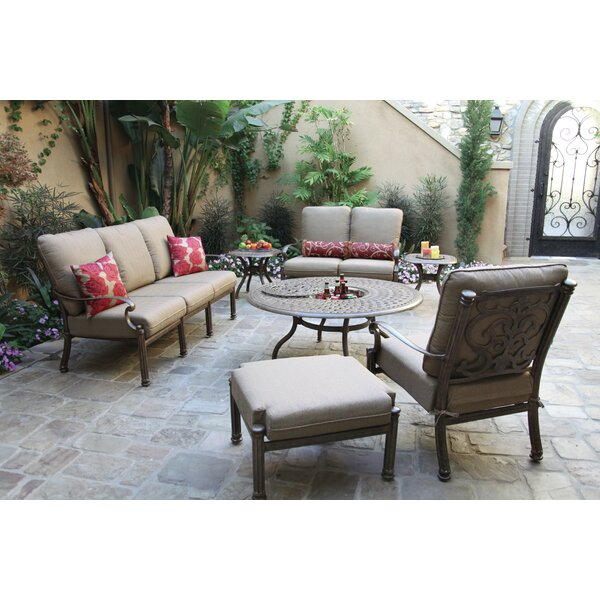 Palazzo Sasso Patio Chair with Cushion and Ottoman by Astoria Grand