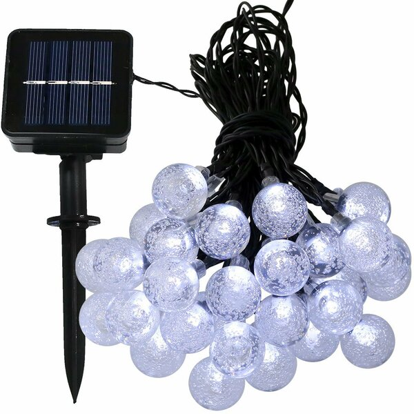 30 Count LED Solar Powered Globe String Light by The Holiday Aisle