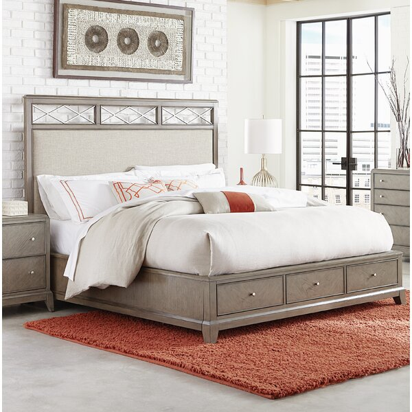 Whicker Upholstered Storage Platform Bed by Ophelia & Co.