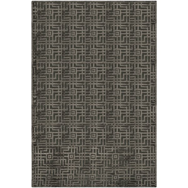 Somnus Hand-Knotted Charcoal Area Rug by Brayden Studio