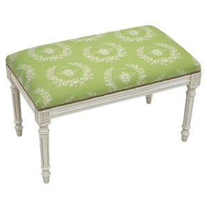 Clematite Upholstered and Wood Bench by Lark Manor