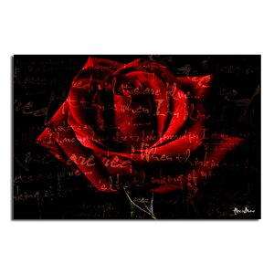 Roses are Red IV' Graphic Art on Canvas by Ready2hangart