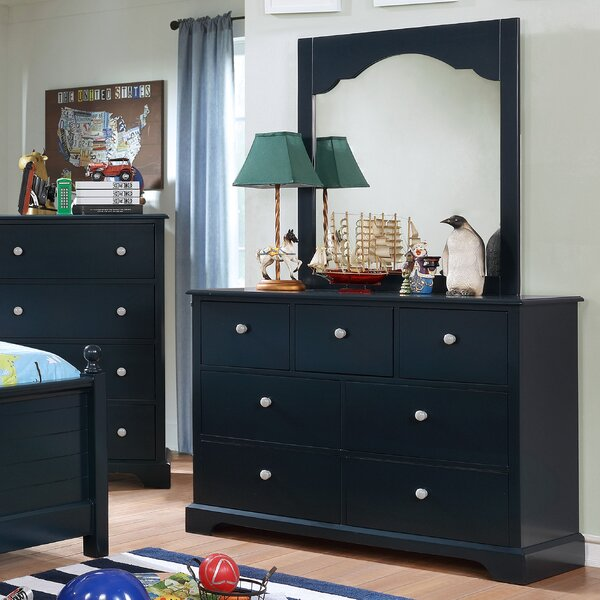 Evanoff 7 Drawer Dresser with Mirror by Harriet Bee