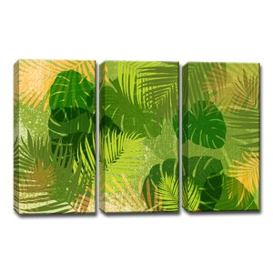 Tropic Venture 3 Piece Graphic Art on Wrapped Canvas Set by Ready2hangart