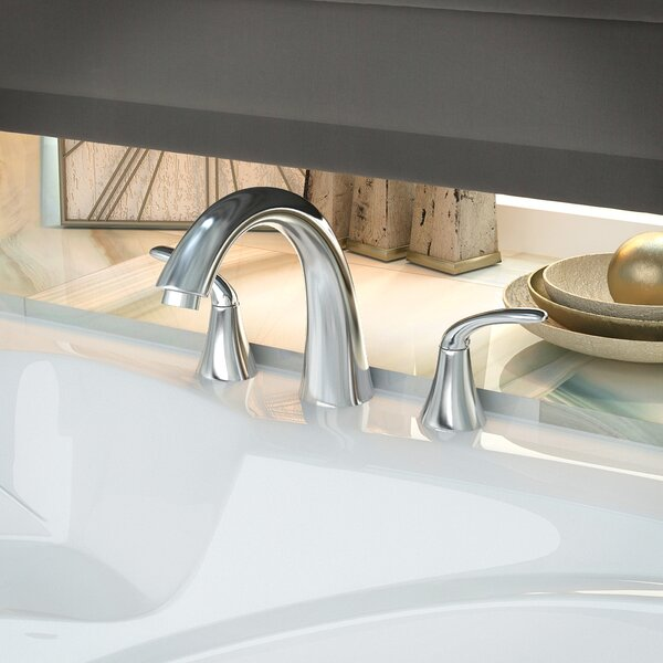 Note Double Handle Deck Mount Roman Bathtub Faucet by ANZZI