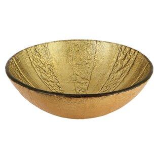 Shopping for Fauceture Glass Circular Vessel Bathroom Sink ByKingston Brass