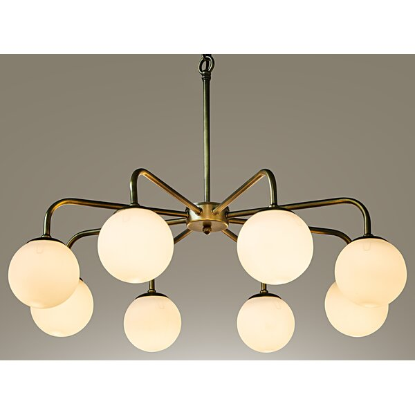 Larenta 8-Light Shaded Chandelier Classic / Traditional Chandelier By Noir