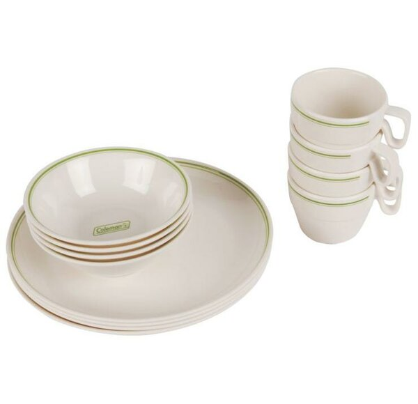 Melamine 12 Piece Dinnerware Set, Service for 4 by Coleman