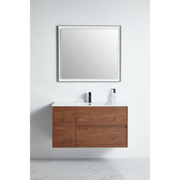 Rizal 39 Wall-Mounted Single Bathroom Vanity Set with Mirror