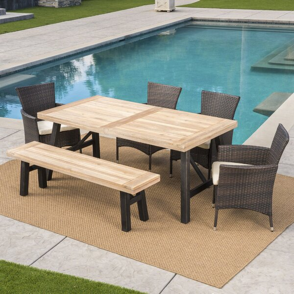 Polett Outdoor 6 Piece Dining Set With Cushions By 17 Stories