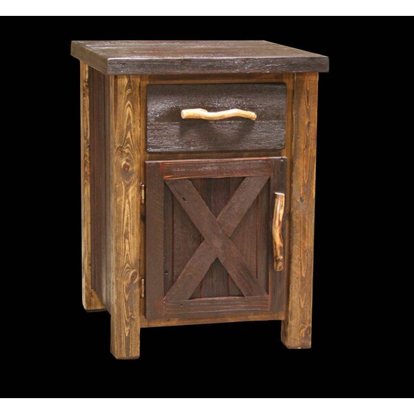 Jorgensen 1 Drawer Nightstand by Loon Peak