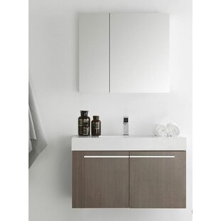 Great choice Senza 36 Vista Single Wall Mounted Modern Bathroom Vanity Set with Medicine Cabinet By Fresca