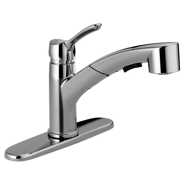 Collins Single Handle Pull Out Kitchen Faucet with Diamond Seal Technology by Delta
