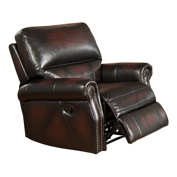 Nevada Leather Manual Recliner by Amax