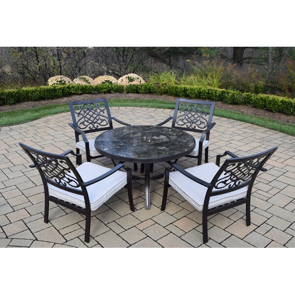Neche 5 Piece Chat Set with Cushions by Winston Porter