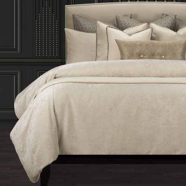 Rhythm And Rhyme Cream Sumptuous Suprem Duvet Cover and Insert Set