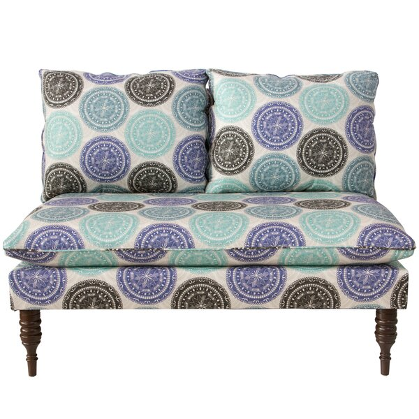 Wodella Medallion Settee by Latitude Run