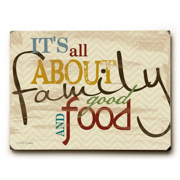 Family Good Food and Fun Textual Art by Artehouse LLC