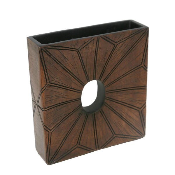 Broadhead Textured Polyresin Table Vase by Foundry Select