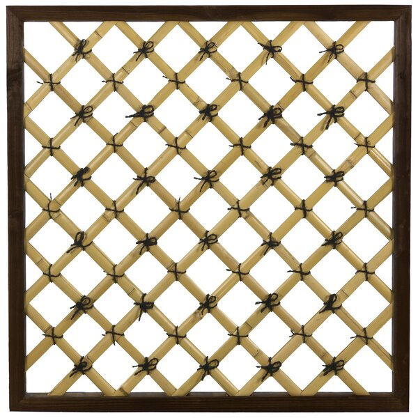 Traditional Wood Lattice Panel Trellis by Oriental Furniture