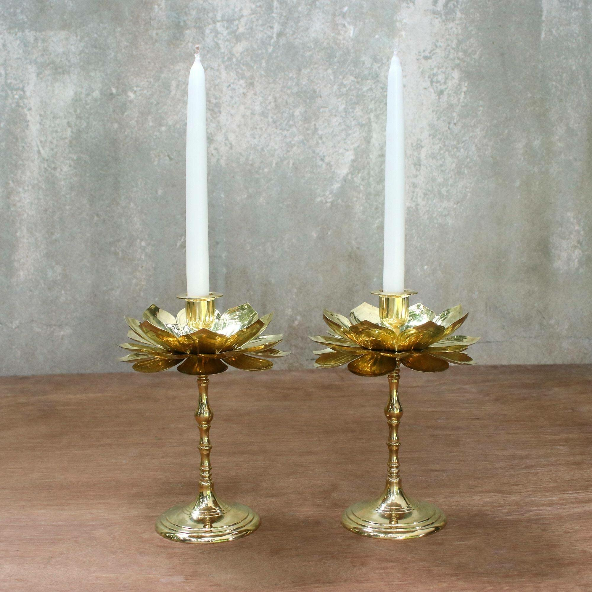 Brass Wall Candlestick Candle Holder Taper Candle Solid Brass Cabin Home Decor Country Home Vintage